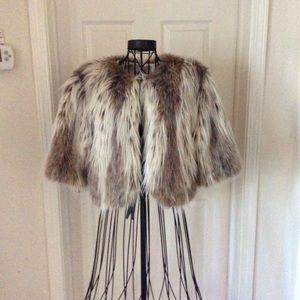 Faux Fur short cape jacket